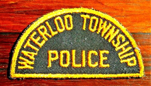 GEMSCO NOS Vintage Patch - POLICE WATERLOO TOWNSHIP IOWA - 1950 - Versions #1