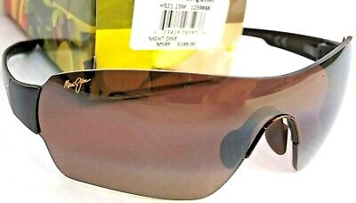 NEW* Maui Jim NIGHT DIVE Brown POLARIZED Bronze Shield Lens Sunglass (Maui Brown)