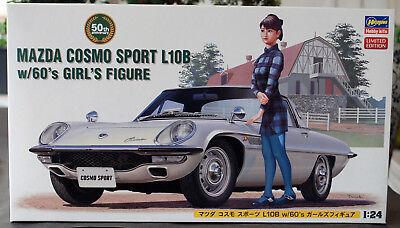 1968 Mazda Cosmo Sport L10b Mit Figur 1:24 Hasegawa 52168 Wieder 2018 Limitiert