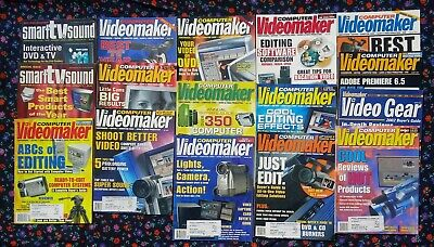 14 ISSUES OF COMPUTER VIDEOMAKER & 2 ISSUES OF SMART TV & SOUND for sale  Shipping to India