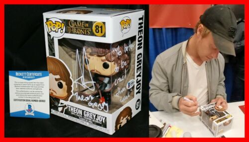 Alfie Allen Signed Game Of Thrones Theon Greyjoy GOT Funko POP Beckett W/ VIDEO