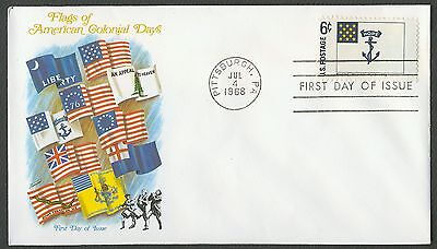 1349 6C RHODE ISLAND FLAGGE FLEETWOOD FDC ANY 4