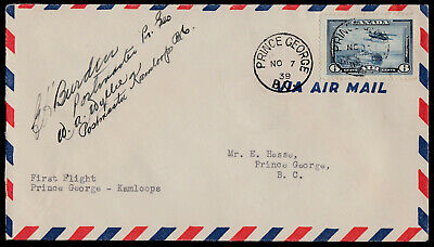 FFC - AAMC #305c -1939- ONLY 2 LBS. - P. GEORGE to KAMLOOPS - SIGNED POSTMASTERS