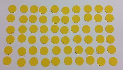 60 Kreise 1,5cm Gelb Tonpapier Stanzteile/Streuteile/Dekoteile (Gelber Kreis Papier)