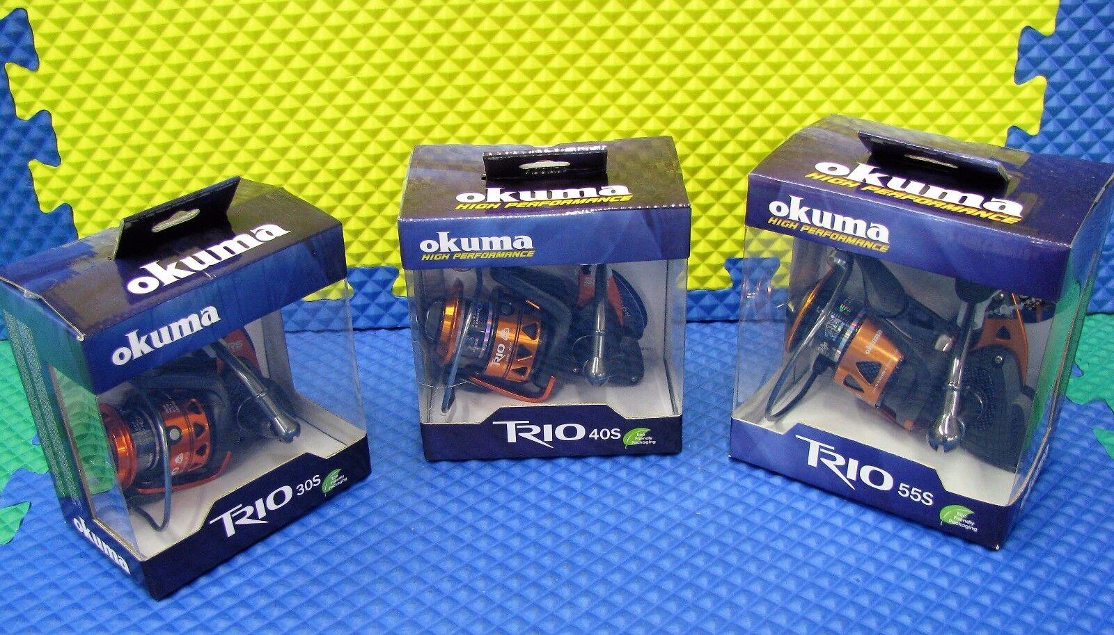 Okuma Trio High Speed Spinning Reels 10BRG CHOOSE YOUR MODEL