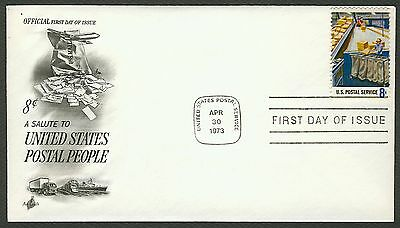 #1492 8c Postal Service Employees, Art Craft FDC **ANY 4=FREE SHIPPING** for sale  Shipping to India