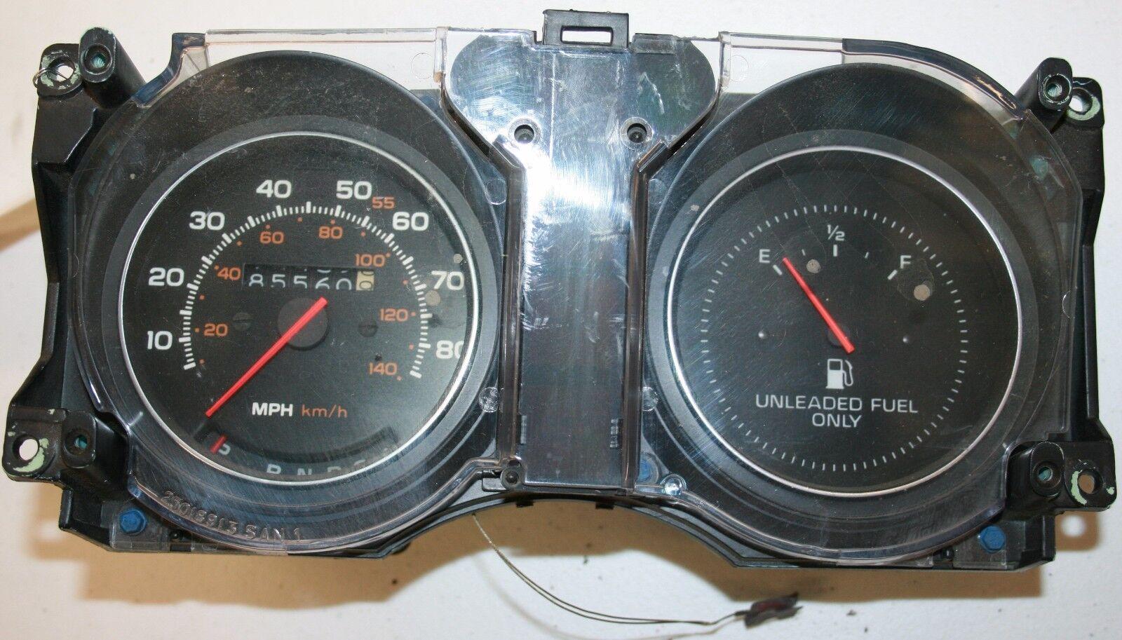 1980 pontiac phoenix speedometer fuel gas gauge cluster. Black Bedroom Furniture Sets. Home Design Ideas