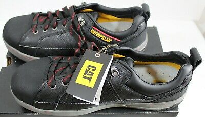 Caterpillar Brode ST Men Steel-Toe Work Shoes Black Leather P90192 - Size 13