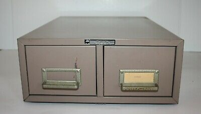 Vintage Art Steel Steelmaster 2 Drawer Metal File Cabinet Library Card Catalog