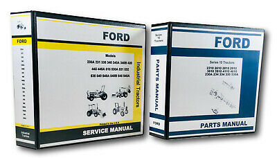 Ford 230a 335 530a Industrial Tractor Service And Parts Manuals Technical Book
