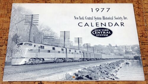 NEW YORK CENTRAL SYSTEM Railroad Calendar - 1977
