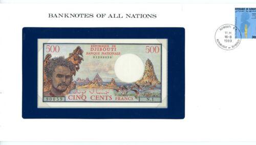 Djibouti ... P-36a ... 500 Francs ... 1979 ... *UNC* Presentation Envelope.