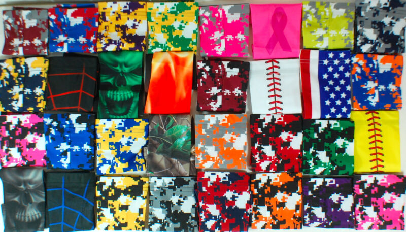 NEW! Basketball Compression Sports Arm Sleeve Camo Baseball Football Lightning
