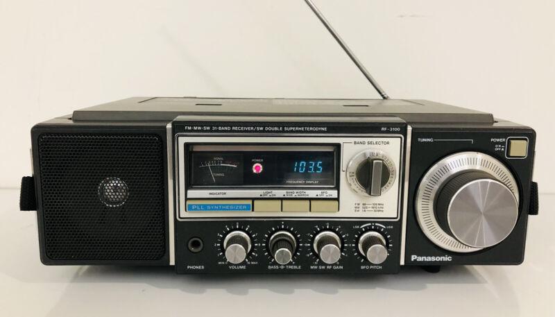 🔥 Panasonic FM-MW-SW 31 Band Receiver Model RF-3100 SW Double Superhetrodyne