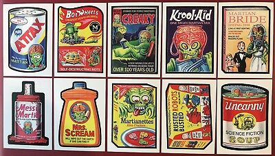 2018 Topps Mars Attacks Wacky Packages LIMITED ONLINE 10-Card Set GPK Trading