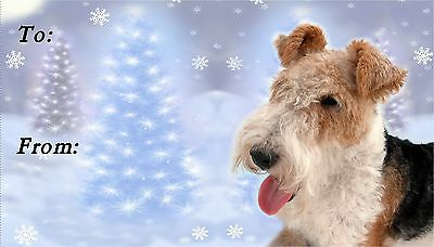 Fox Terrier (Wire) Christmas Labels by Starprint - No 1