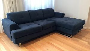3 Seater Chaise Lounge / Sofa - SOLD Woolloomooloo Inner Sydney Preview