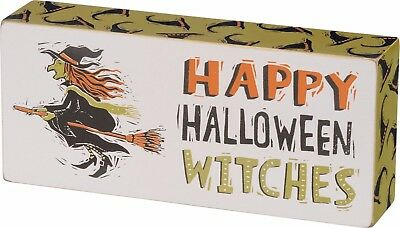 🎃Halloween Primitive Wood Box Sign ~