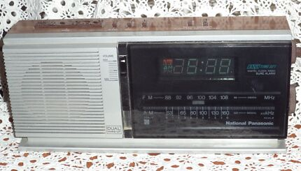 VINTAGE PANASONIC RC-6310BA DIGITAL CLOCK/ALARM/AM/FM RADIO WOODG