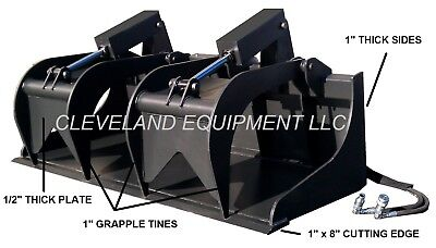 New 72 Severe-duty Grapple Bucket Attachment Bobcat Skid Steer Track Loader 6