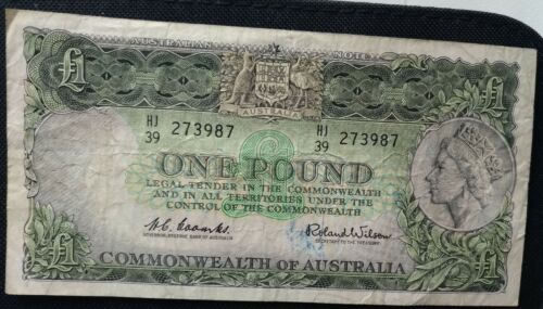 1961 Coombs Wilson Australian 1 pound note