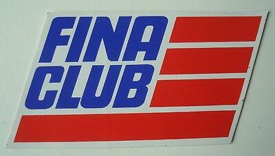 Autocollant / sticker FINA Club vintage années 70.