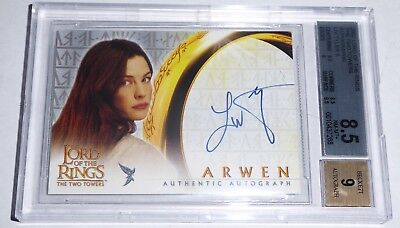 Lord of the Rings The Two Towers Autograph Signature LIV TYLER A Arwen Card 2002