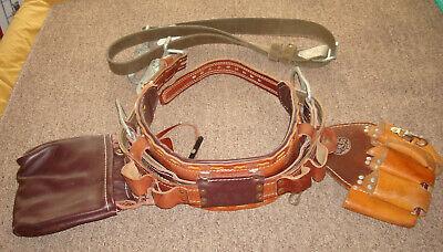 Buckingham Leather Linemans Pole Climbing Safety Belt 2000 M Size 24 Wstrap