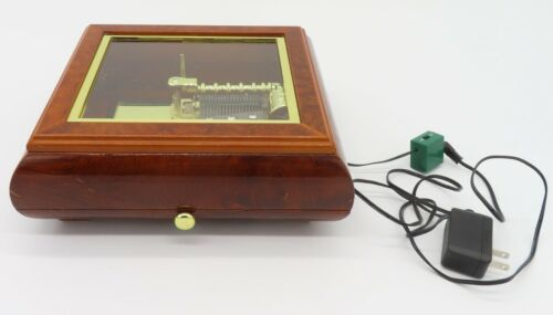 Mr Christmas Symphonium Electronic Wood Music Box Player W/ 16 Discs Tested