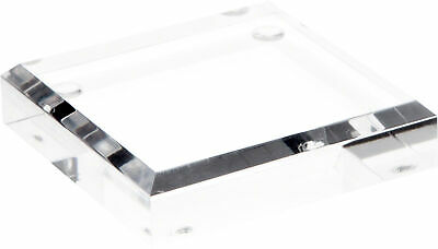Plymor Clear Acrylic Square Beveled Display Base 0.75 H X 3 W X 3 D