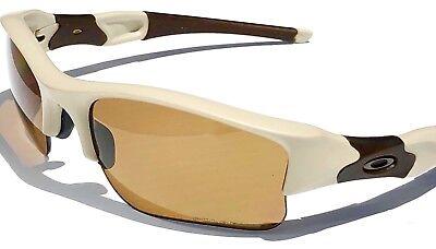 NEW* Oakley FLAK jacket DESERT SI POLARIZED BRONZE XLJ Golf Sunglass (Oakley Flak Jacket Xlj Polarized Sunglasses)