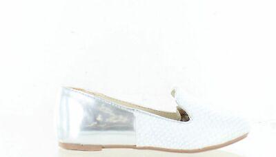 Kensie Girl KG24387 Slip-On Loafer Shoe Croco Silver Little Kid Size 11 M US