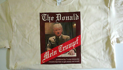T-shirt Donald Trump MEIN TRUMPF Hitler parody 100% cotton natural size XL