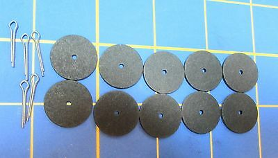 """For Jointed Teddy Bear = 10 - 3/4"""" Hardboard Discs - 5 Cotter Pins"""