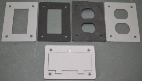 Hubbell Kellems Rectangular Floor Box Cover PFBR826GYA, Gray, PVC, for S2 Series