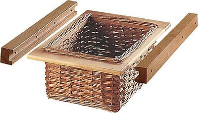 Wicker Basket and Runner Set for 500mm Width Cabinet ()