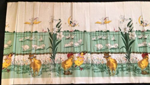 Rare Hard To Find Easter Decorative Crepe Paper Bunnies Chicks Easter Lilies