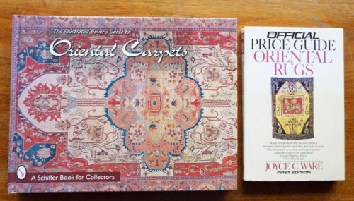2 ORIENTAL RUGS CARPETS COLLECTING Identification & Price Guide BOOKS