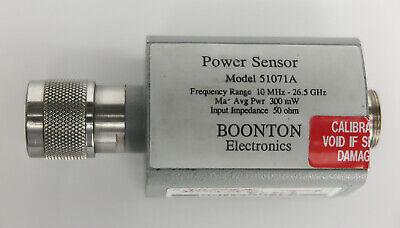 Boonton 51071a 10mhz To 26.5ghz Dual Diode Power Sensor -70 To 20dbm