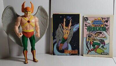 Vintage 1984 Kenner Super Powers Hawkman Action Figure with Mini-Comic & Card
