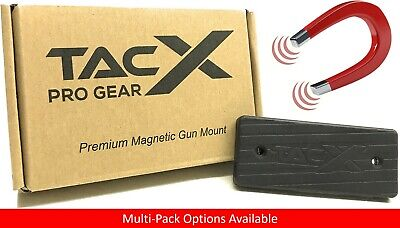 Tacx Magnet (TacX Pro Gear Gun Magnet | 43 lb| LOW PROFILE | Rubber Coated 2 Screw Gun Mount )