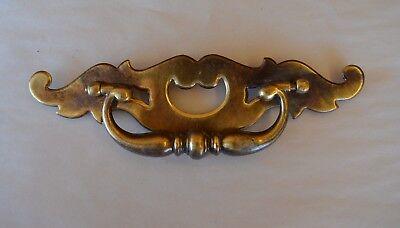 "1 Large 8 1/8"" Vintage Brass & Metal Drawer Pull Handle Marked KBC 2 & N08215"