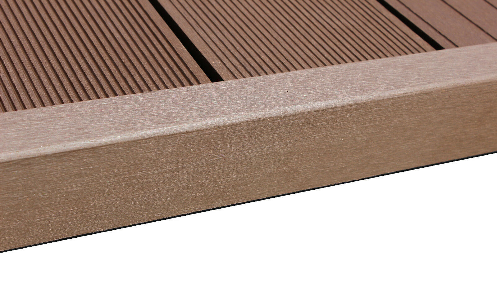 MUSTER WPC L Winkel Abschlussleiste Terrassendielen Grau Co-Extrudiert 15x5x5 cm