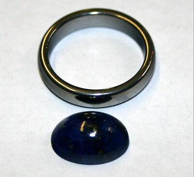 Natural Lapis Lazuli loose gemstone 10x14mm gem oval cabochon 5.3ct LA51