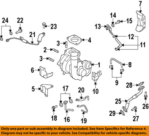 MAZDA OEM 07-13 3 Turbocharger-Oil Inlet Tube Gasket 995621200