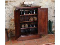 Dark Mahogany Shoe Storage Cabinet