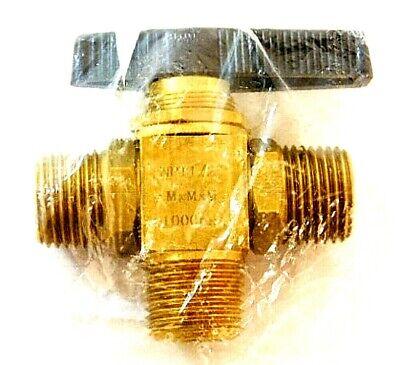 1wmw3 Mini Brass Ball Valve Mnpt X Mnpt 12 Pipe Size 3-way Body