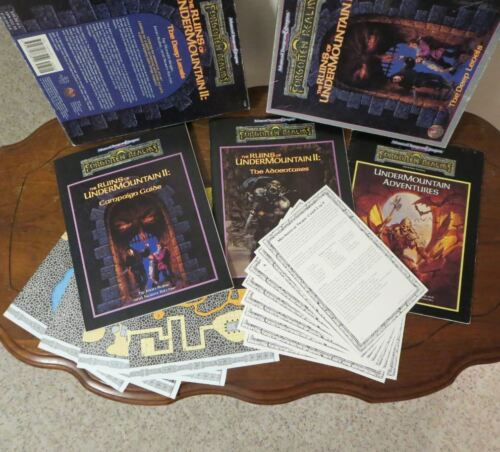 Forgotten Realms RUINS OF UNDERMOUNTAIN II The Deep Levels TSR 1104 + Adventures
