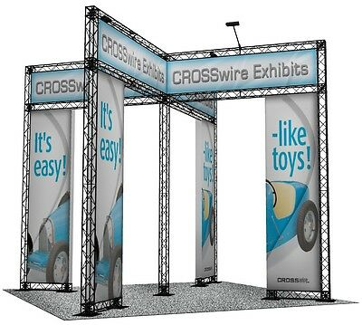 10x10 Trade Show Display Portable Truss Led Plastic Truss Crosswire Exhibits