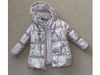 girl Winter warm jacket coat 4-5 years- Perfect condition